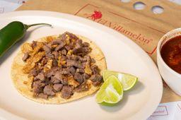 Tacos de Cecina y Chicharrón