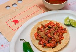 Tacos de Longaniza y Chicharrón