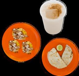 Gringa  + 3 Tacos + Agua