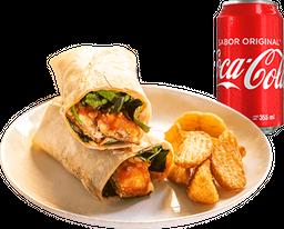 Combo Wrap Chicken Parm + Bebida + Papas Gajo