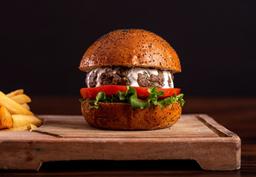 Kebab Burger + Papas + Elote Dulce