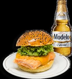 Hamburguesa Prince + Cerveza Modelo GRATIS