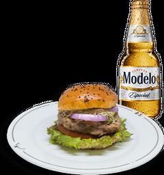 Hamburguesa Mc Cartney + Cerveza Modelo GRATIS