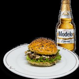 Hamburguesa Cash + Cerveza Modelo GRATIS