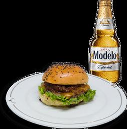 Hamburguesa Hendrix + Cerveza Modelo GRATIS