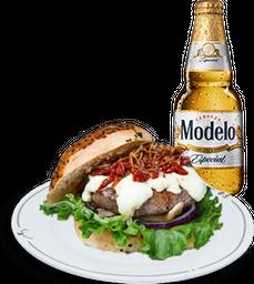 Hamburguesa del Mes + Cerveza Modelo GRATIS