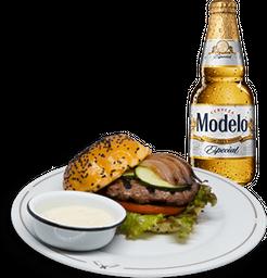 Hamburguesa Morrison + Cerveza Modelo GRATIS