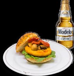 Hamburguesa Marley + Cerveza Modelo GRATIS