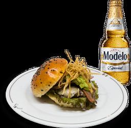 Hamburguesa Bowie + Cerveza Modelo GRATIS