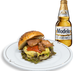 Hamburguesa Barrett + Cerveza Modelo GRATIS