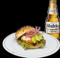 Hamburguesa Santana + Cerveza Modelo GRATIS