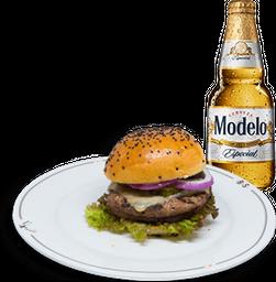 Arma tu Hamburguesa + Cerveza Modelo GRATIS
