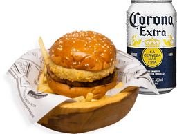 Combo Wallace Burger + 1 Coronas lata 355 ml
