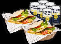 Combo para dos: Dos Australes + six pack Corona lata 355 ml