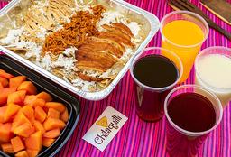 30% OFF Desayuno Chilaquiiles Grandes Sencillos + Fruta