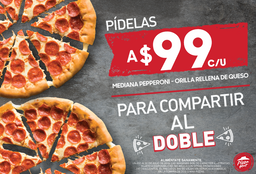 2 Hut Cheese Pepperoni con Envio GRATIS!