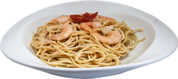 Spaghetti con Camarónes al Chiplote