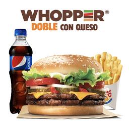 Combo Whopper® Doble con Queso