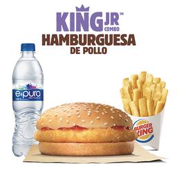 King Jr. Hamburguesa de Pollo