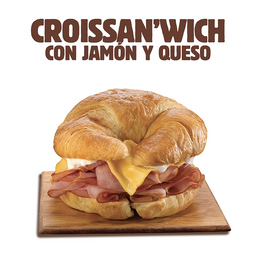 Combo Croissant Jamón y Queso