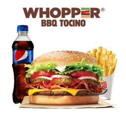 Combo Whopper BBQ Tocino