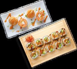 Elige tu Entrada + Spicy Roll