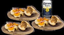 3 Empanadas + 1 Cerveza Corona Original