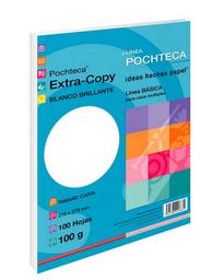 Papel Pochteca Extra-Copy Brillante 100 Hojas Carta Blancas