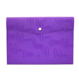 Portadocumentos Iclip Sobre Con Broche Carta Violeta 1 U