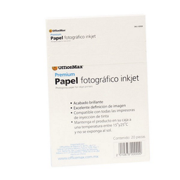 Papel Office Max Fotogr‡fico Premium Brillante 20 U
