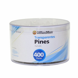 Pines de Pl‡stico Transparentes Office Max 400 U