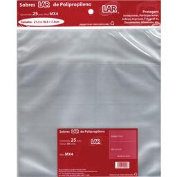 Sobre Lar Celofan Transparente 21.5x16.5cm 25 U