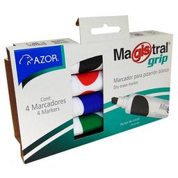 Marcadores Magistral Grip Pizarr—n 4 U