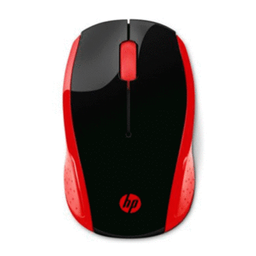 Mouse HP In‡lambrico 200 Negro/Rojo 1 U