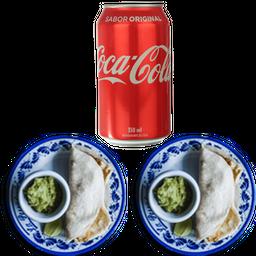 2 Tacos  de Pescado + Refresco