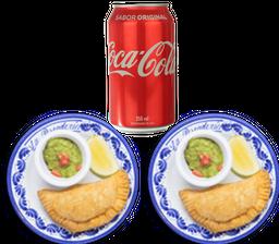 2 Empanadas + Refresco