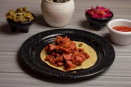 Taco de Salchicha a la mexicana