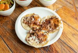 Tacos de Arrachera con Queso