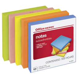 Notas Od 3x3 Neon C/500. SKU 36657