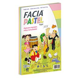 Papel Col. Pastelc/100 Facia. SKU 43121