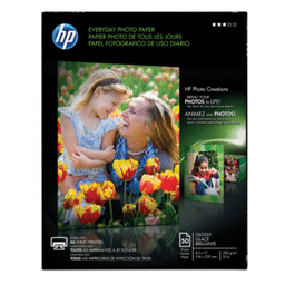 Papel Fotog Hp Carta C/50. SKU 67364