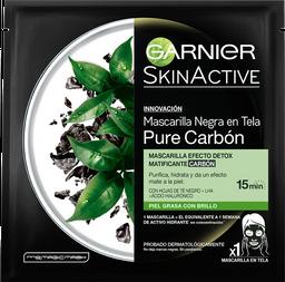 Mascarilla Garnier SkinActive Pure Carbón en Tela 1 U