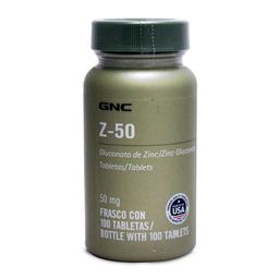 Glucanato de Zinc GNC Z 50 100 Tabletas (50 mg)