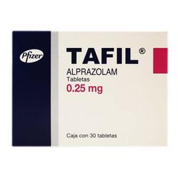 Tafil 0.25 mg 30 tabletas