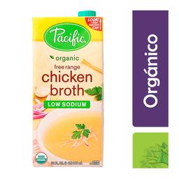 Caldo de pollo Pacific orgánico, bajo en sodio 946 ml