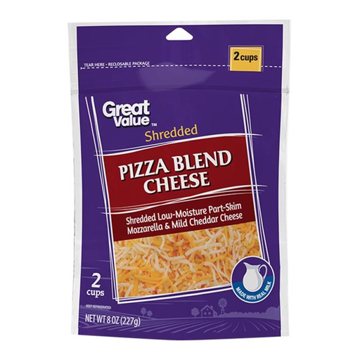 Mezcla de quesos Great Value para pizza rallado 227 g