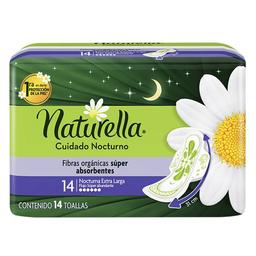 Toallas femeninas Naturella cuidado nocturno extra larga 14 U