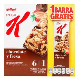 Barras Kellogg's chocolate y fresa 7 pzas