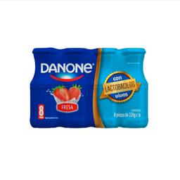 Yoghurt bebible Danone sabor fresa 8 pack de 220 g c/u