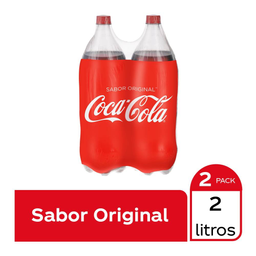 Refresco Coca Cola 2 botellas de 2 l c/u